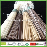 Organic gluten free brown rice and white rice noodle