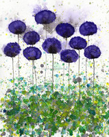 Handmade decorative pictures for living metal flowers wall art flower oil painting on canvas oil painting for kids room