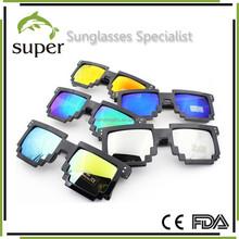 Designer Revo Pixel 8-bit Sunglasses Custom Retro Dark Lens Sun glasses Pixeled