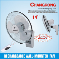 new products rechargeable wall fan with universal remote control
