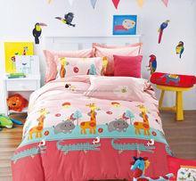 100% cotton fabric pigment print new design kids duvet cover sets