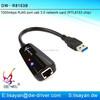 10/100/1000Mbps Realtek RTL8153 chipset USB 3.0 Ethernet card