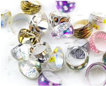High quality workmanship leopard dot flowers funky rings children jewellery