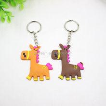 Horse Soft pvc Rubber Keychain Fashion Crafts