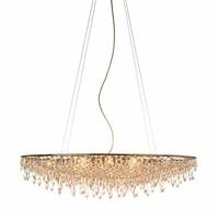 7.22-2 New Style Bohemian Crystal Rain suspension lamp - oval Lighting