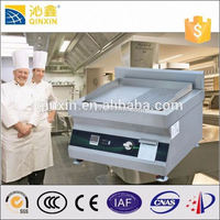 induction flat stainless steel pancake griddle/big comercial bbq grill/electric barbecue grill
