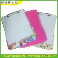 Customer logo print writing clipboard hardware