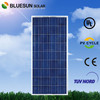 Bluesun TUV ISO CE UL listed home industrial use sunpower polycrystalline 150w pv solar module 18v