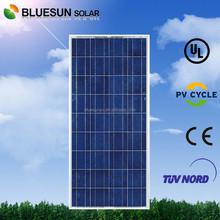 Bluesun TUV ISO CE UL listed home industrial use sunpower polycrystalline 150w pv solar module 18v