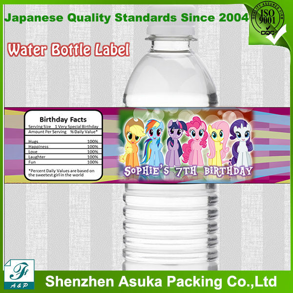High quality and cheap price custom plastic water bottle for Buy water bottle labels