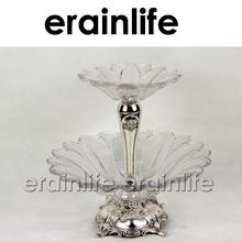 Erainlife er-0716 transparente de vidro top grau prato de comida