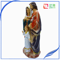 12'' christian holy family resin statue for sale
