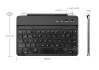 Wireless Metal Cover Magnetic Clip Bluetooth Keyboard For Ipad Mini 2015