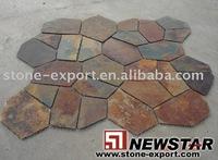 Meshed Slate (Random Slate Flooring)