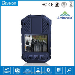 Connect with walkie-talkie 4 IR lights police mini camera dvr support GPS