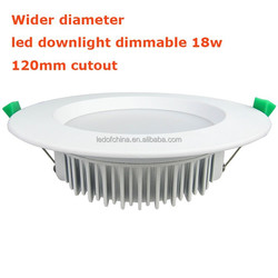 CE Rohs SAA Approved 15W 18W Dimmable LED Downlight , 120mm cutout wider frame IP44 SMD LED Downlight 15W / 18W