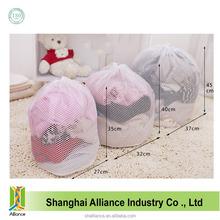 washable nylon fabric drawstring mesh laundry bag
