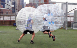 Bubble Football with Soft Handles and Belts