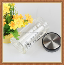 300ml borosilicate hot water available empty glass sports water bottle