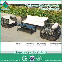 Fastionable style Big Round rattan outdoor Garden furniture sofa set item no FWY-053 1+1+2 with table