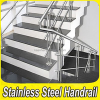 Customed 304 Stainless Steel Decorative Railings Concrete Stairs