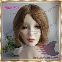 Golden Supplier zhongtian hair No Shedding No Tangle can be dyed any color 100% Human Hair virgin hair jewish kosher wig