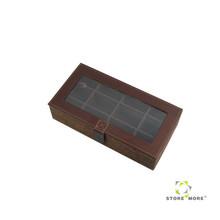 Store More Fabric Tea Storage Box Brown
