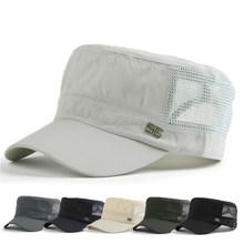 Malla exterior gorra plana para los deportes casquillo con tapa llana con hebilla de metal