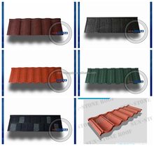 New sunlight popular colorful stone coated metal roofing tile/decorative building meterial roofing