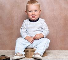 Open shoulder organic cotton baby boy t shirt