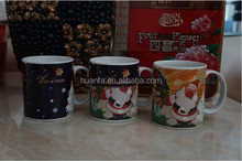 Porcelain Type and Holiday Decoration & Gift Use snowman coffee mug
