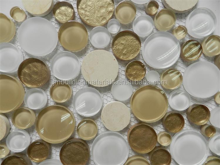 Rund Mm Glas Mischen Stein Mosaikfliesen Runde MosaikMosaik - Fliesen mosaik rund