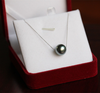AAA 10-11MM Nuture black color pearl with 18K gold , Round parl