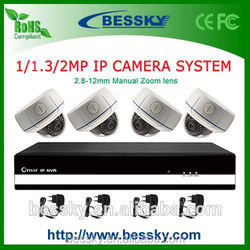 TOP Sale 4CH IP camera NVR Kit,smartphone,universal remote control