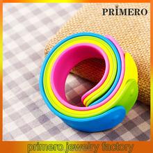 PRIMERO NEW Silicone Snap Slap On Rubber Slogan Bracelet Bangle Silicone Rubber Wristband Slap On Bracelet belize bangle