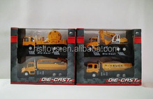 2015 New Arrival ! 4 mixed loading 1:60 pull back die-cast engineering van model toys