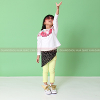 Children kids girl Casual long sleeve t-shirt with 100% cotton from china