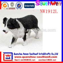 por encargo de la venta caliente de la resina de la figura de perro para la decoración del hogar