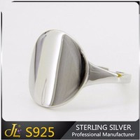 S925 Platinum Geometry Jewelry 925 Sterling Silver Round Glaze Ring sets