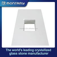 super white artificial stone bathroom vanity made in china