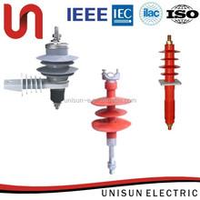 Unisun 11kv Porcelain Housed Metal-oxide electrical substation lightning arrester manufacturer