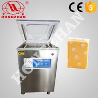 Hot sale Hongzhan DZ400 2D table top or stand type meat fish cereal vacuum food vacuum packaging machine