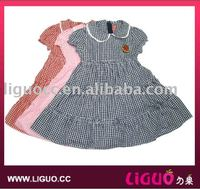 White cotton summer dresses for kids wholesale boutique clothing