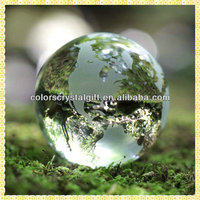 New Arrival Clear Engraved Crystal Decoration Earth Ball For Desktop Centerpieces