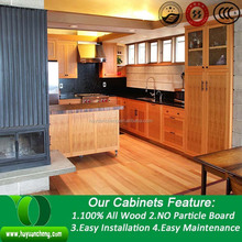 American cherry solid wood kitchen cabinet imported bathrooms