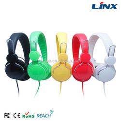 Lightweight protable on-ear stereo headphone wholesale