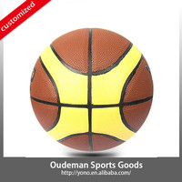 2015 YONO High quality new design 12 panel deflated PU basketball