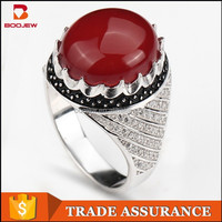 2015 wholesale jewlery value 925 silver ring afghanistan silver red stone ring jewelry