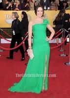 Emily Blunt Green One Shoulder Prom Evening Dress 2012 SAG Awards Red Carpet