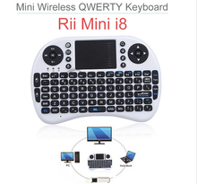 Rii i8 Mini Wireless keyboard with Touchpad 2.4G Fly Air Mouse Combo Teclado for Xbox360 for PS3 for Andriod TV Box